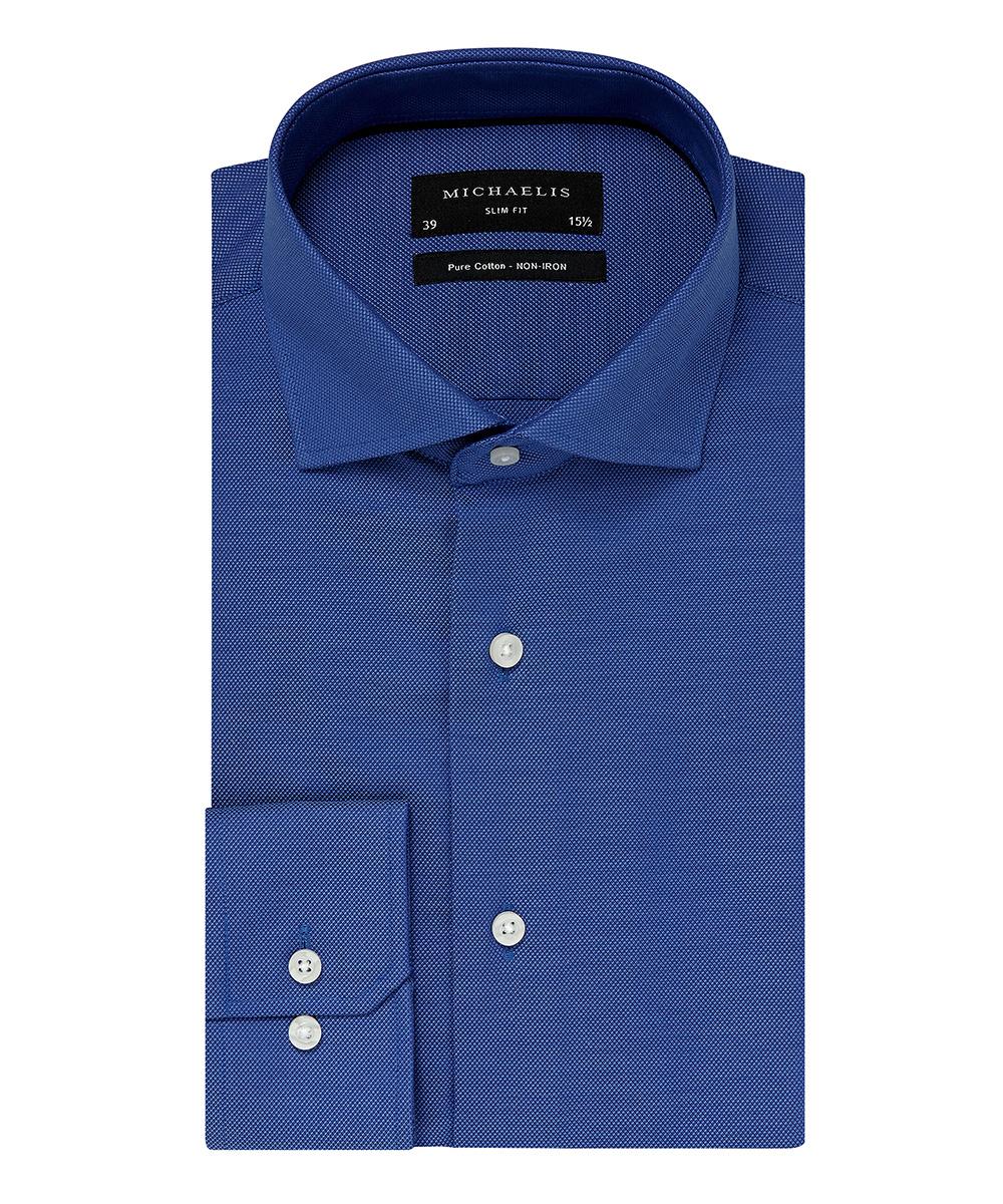 Gala Overhemd Heren.Overhemd Blauw Cutaway Boord 100 Katoen Non Iron Gala Specialist