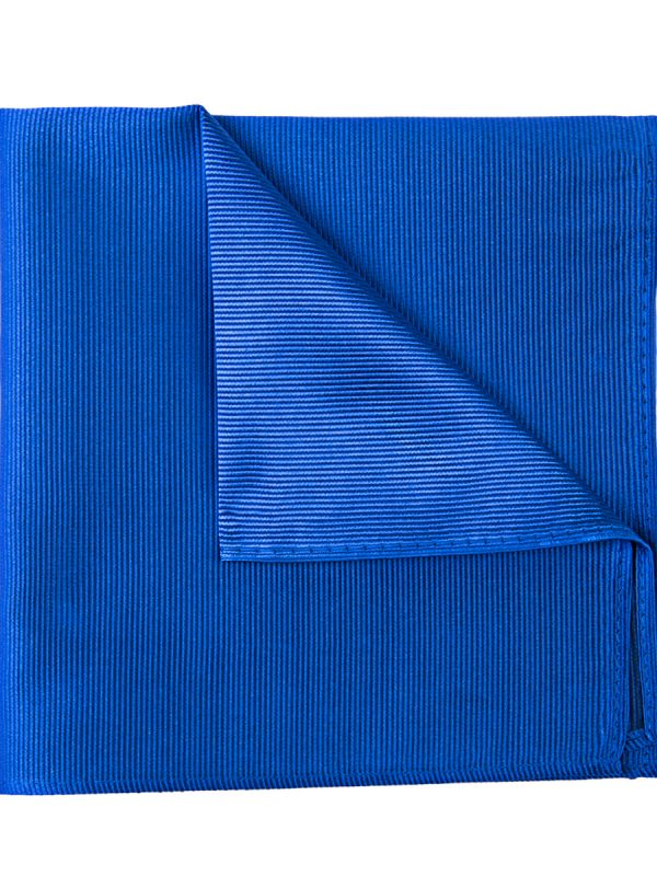 Pochet zijde streep kobalt