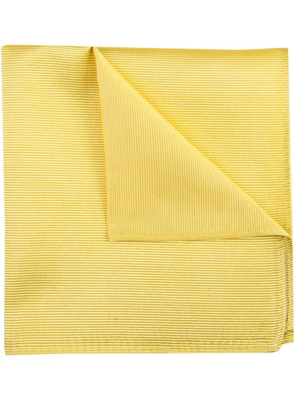 Pochet zijde streep licht geel