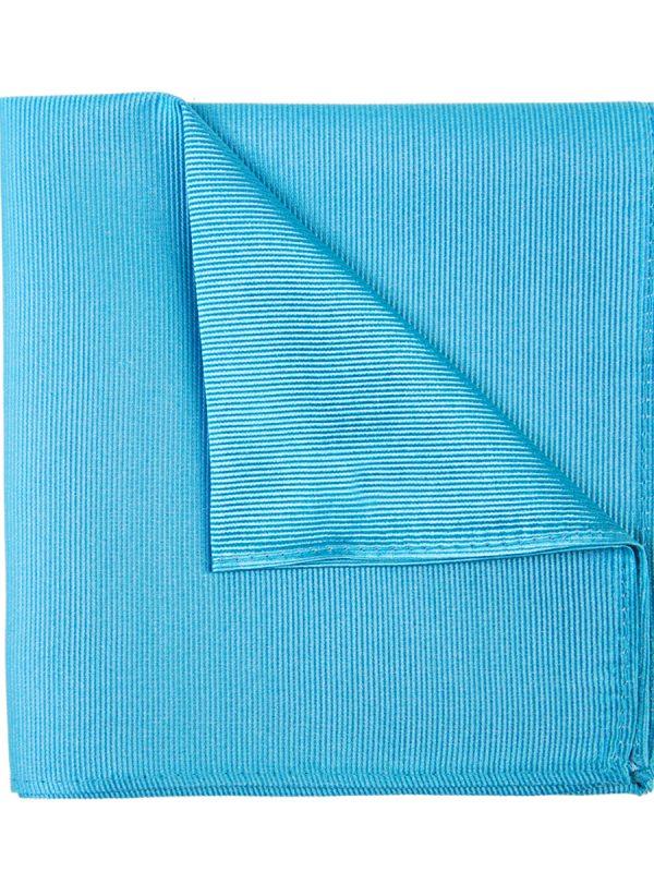 Pochet zijde streep lichtblauw