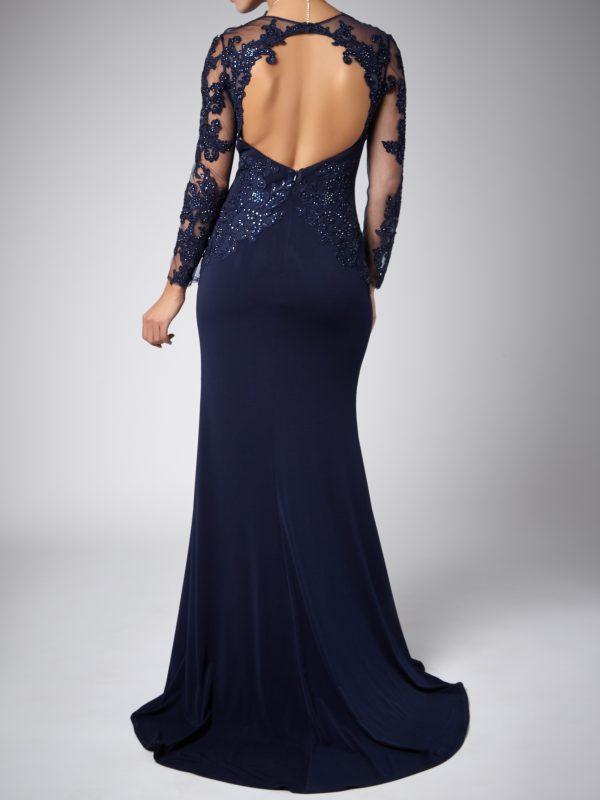 gala jurk met mouwen