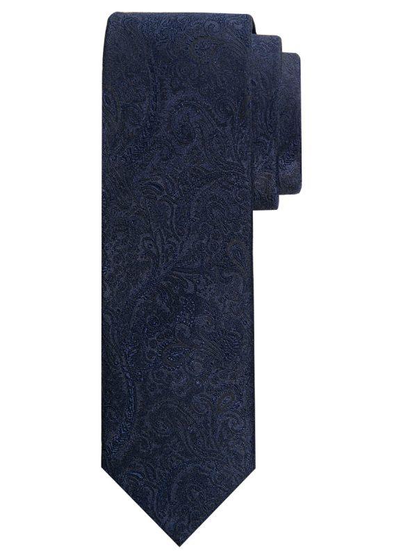 Stropdas zuiver zijde paisley patroon zwart