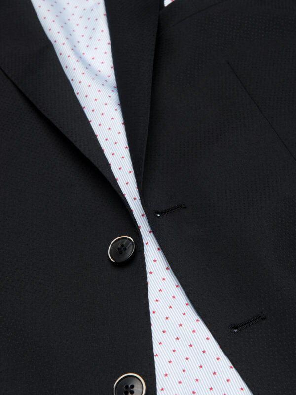 Slim fit kostuum zwart detail