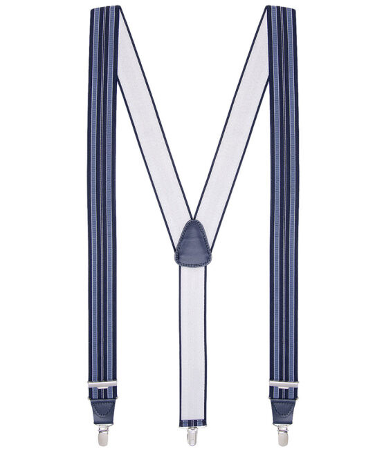 Bretels gestreept blauw wit