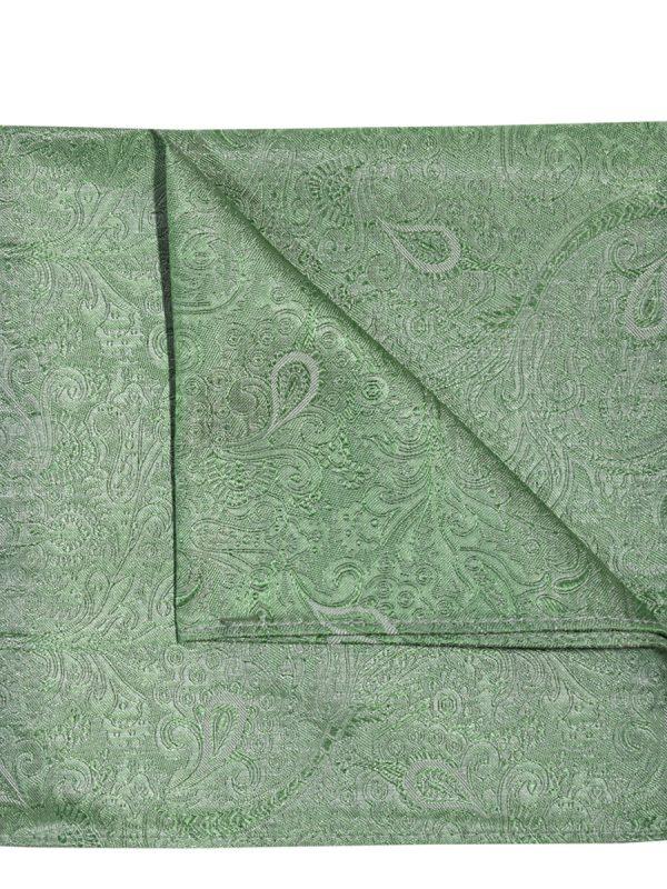 Pochet zijde paisley groen