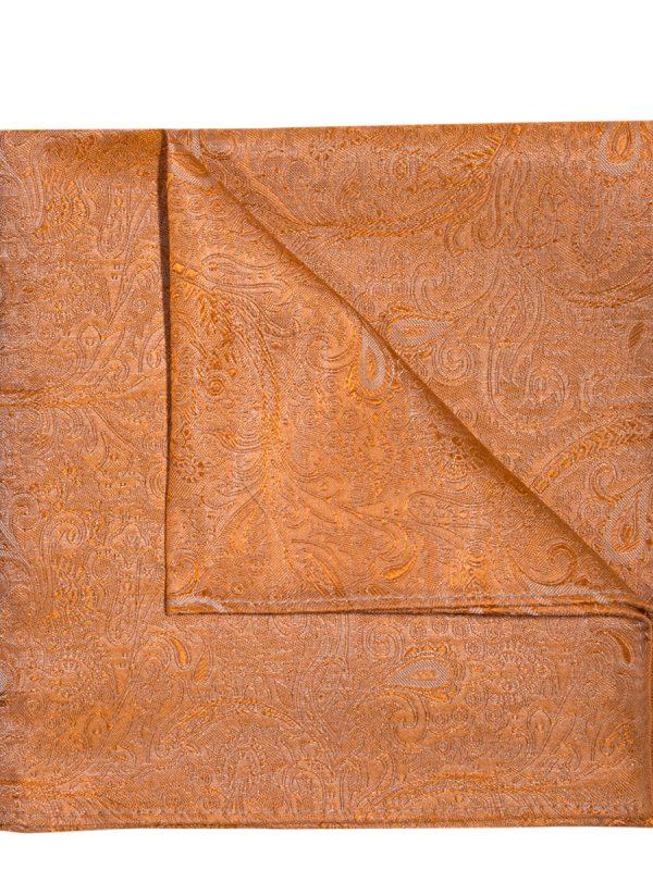Pochet zijde paisley oranje
