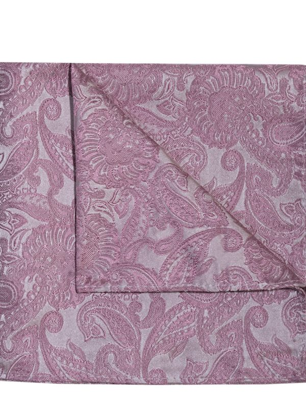 Pochet zijde paisley roze