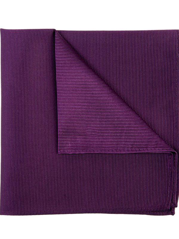 Pochet zijde streep aubergine