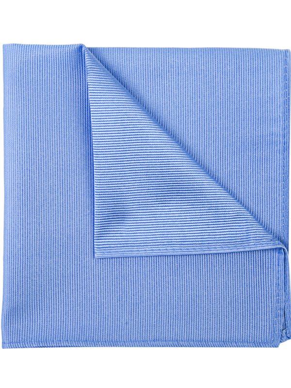 Pochet zijde streep baby blue