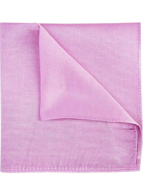 Pochet zijde streep baby pink