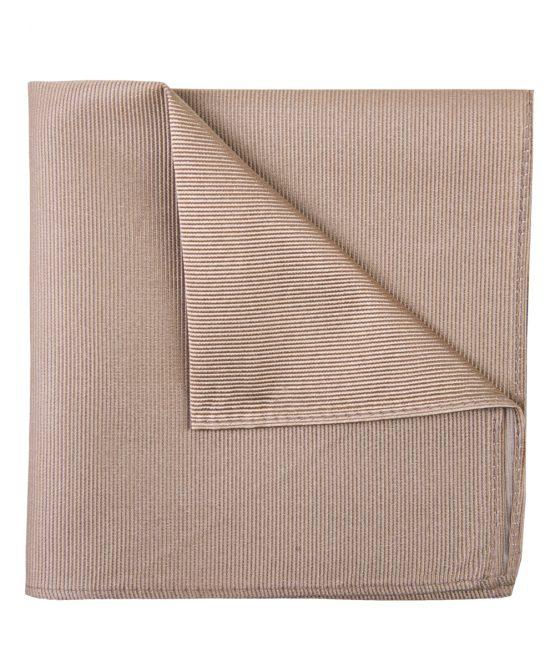 Pochet zijde streep beige