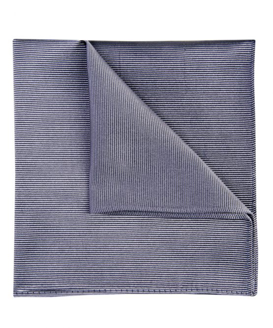 Pochet zijde streep grijs