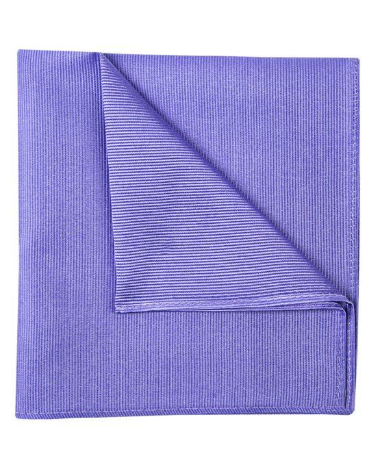 Pochet zijde streep lila