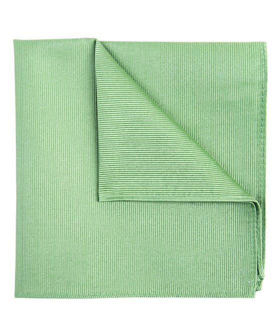 Pochet zijde streep mint