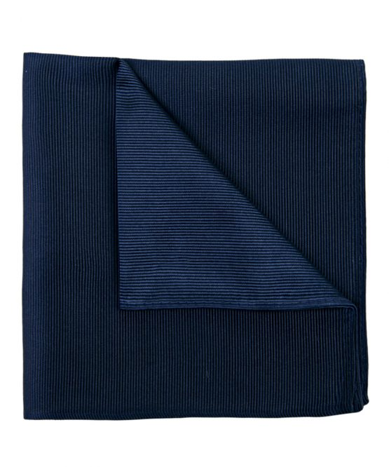 Pochet zijde streep navy