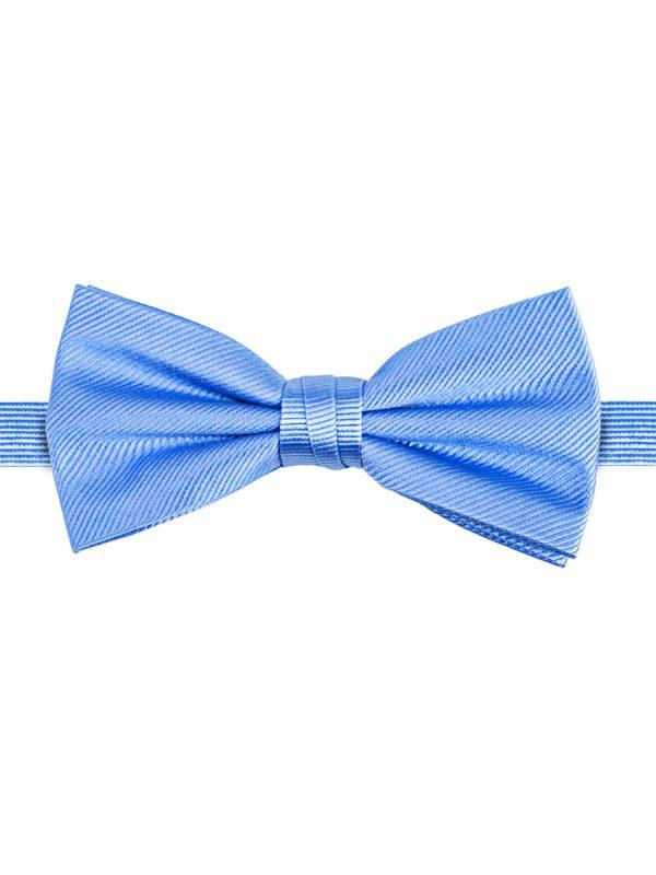 Strik zuiver zijde streep uni hemelsblauw