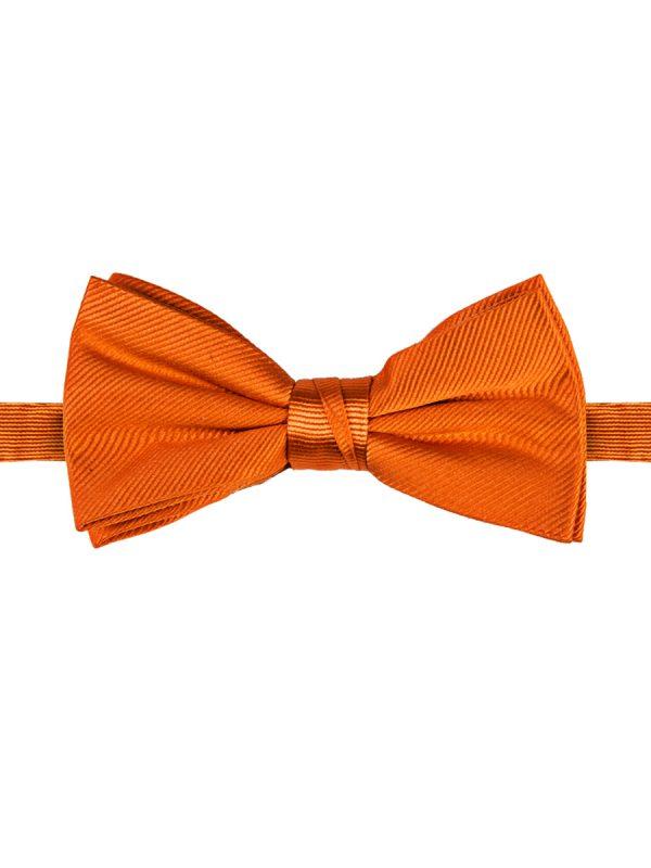 Strik zuiver zijde streep uni oranje