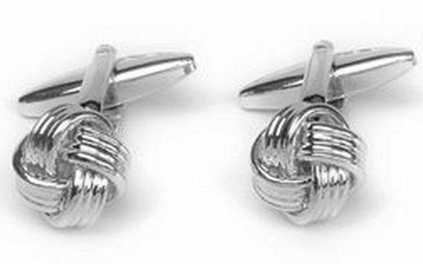 Manchetknopen zilverkleurig knoop zilver