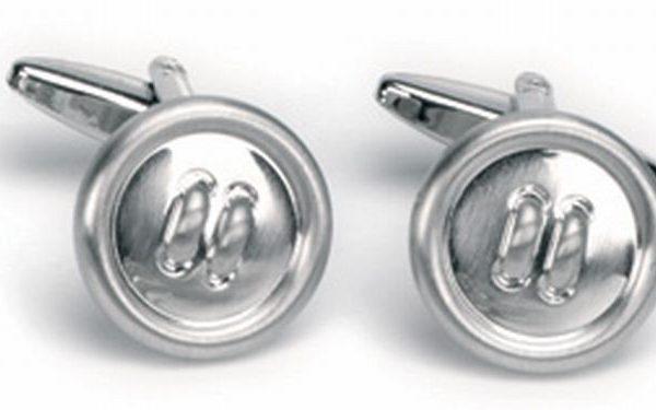 Manchetknopen zilverkleurig knoopjes