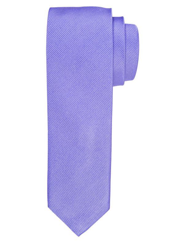 Stropdas zuiver zijde streep uni lila