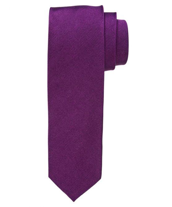 Stropdas zuiver zijde streep uni paars