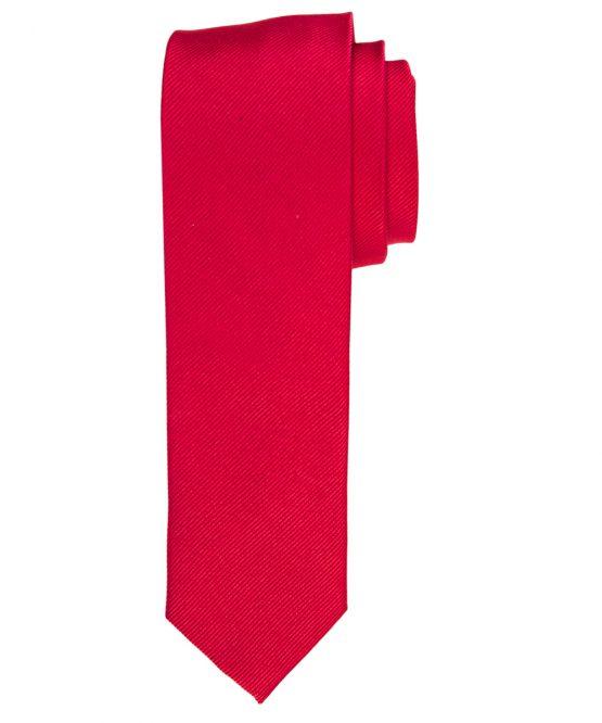 Stropdas zuiver zijde streep uni steen rood