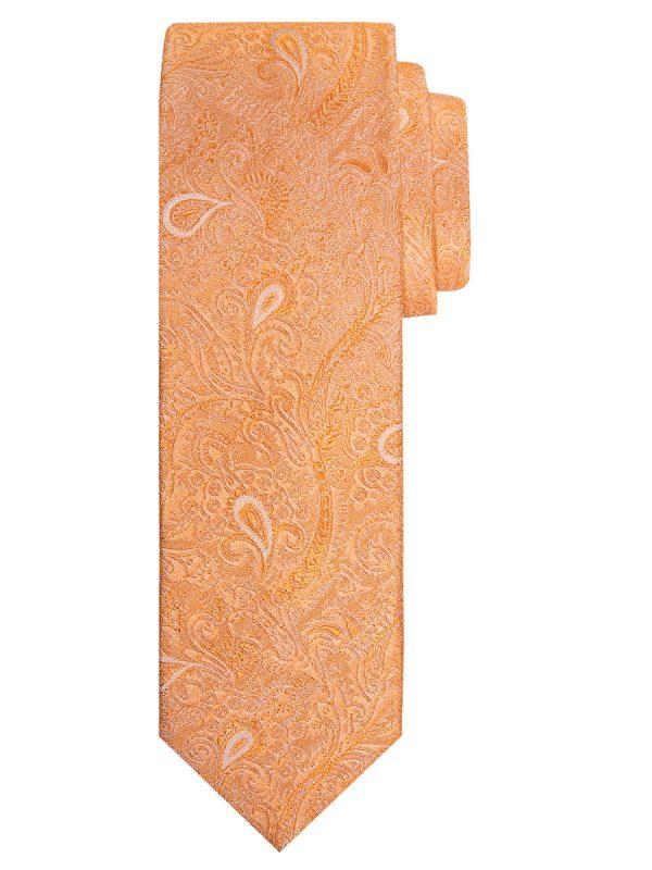 Stropdas zuiver zijde paisley patroon oranje