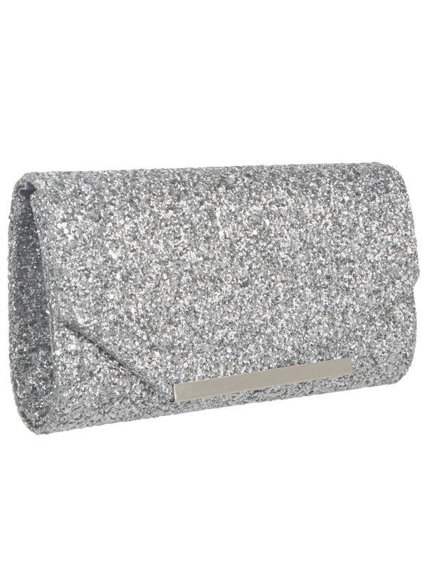 Clutch Zilver Flap