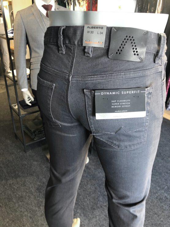 5-pocket donkergrijs RF detail achter