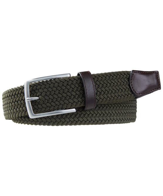 Geweven elastische groene riem