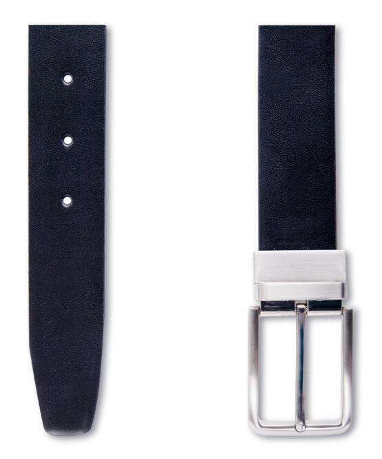 Zwart-Bruin omkeerbare riem detail