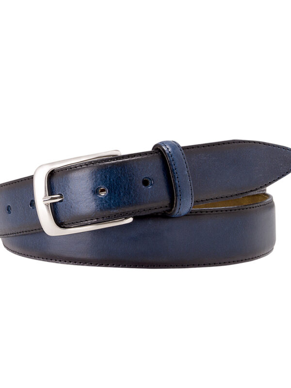 Two-tone navy riem