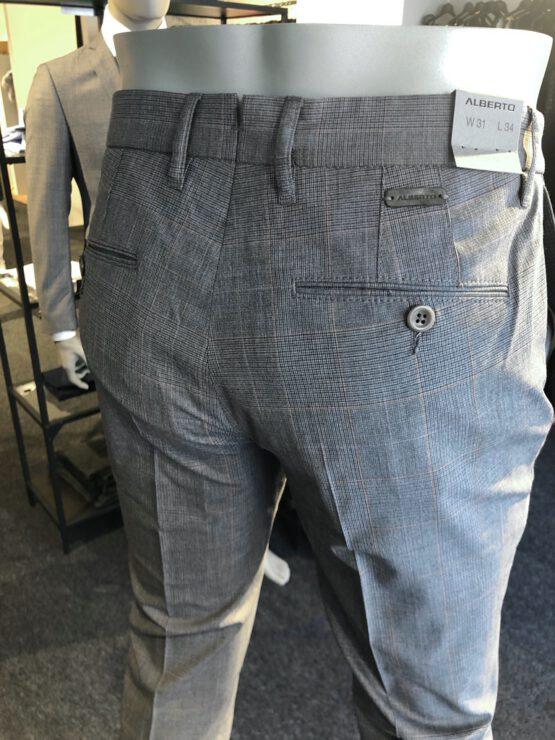 Pantalon Italiaans bandplooi grijs achter