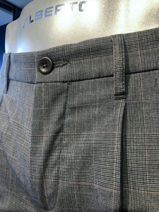 Pantalon Italiaans bandplooi grijs detail voor