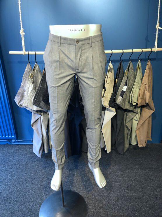 Pantalon Italiaans bandplooi grijs voor