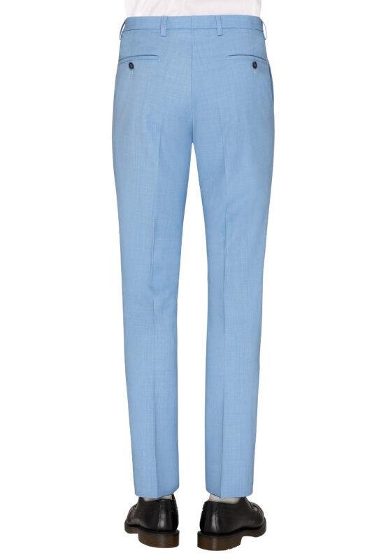 Slim Fit Kostuum Baby Blue broek achter