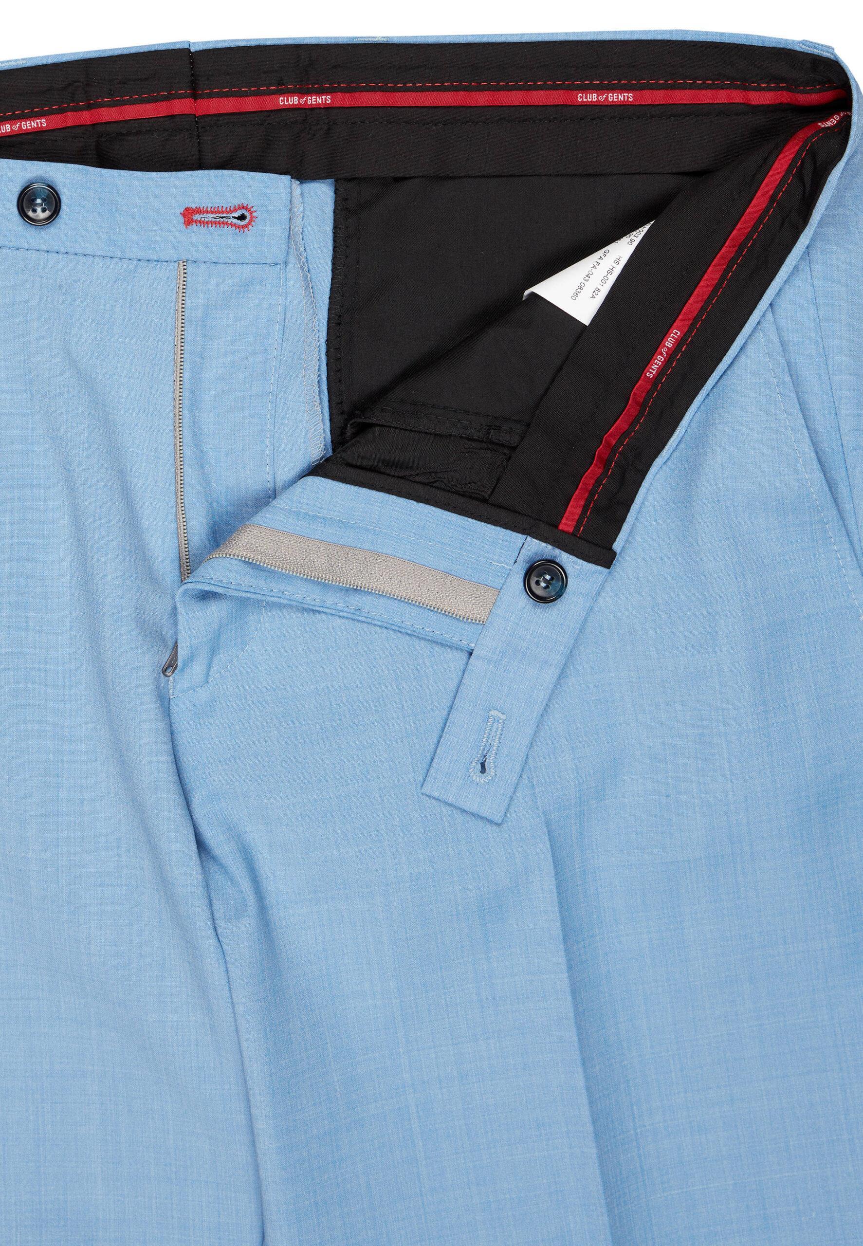 Slim Fit Kostuum Baby Blue broek detail