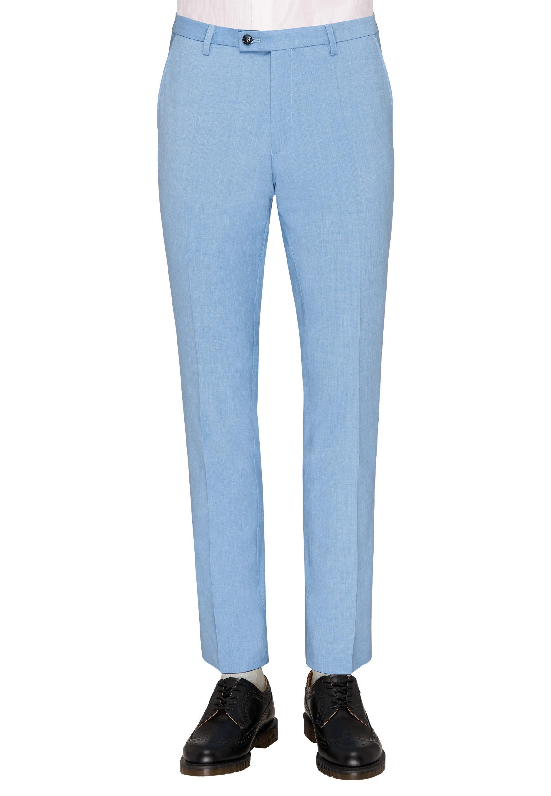 Slim Fit Kostuum Baby Blue broek voor