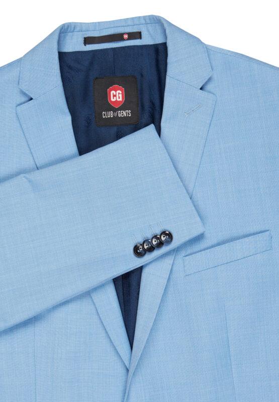 Slim Fit Kostuum Baby Blue jas detail