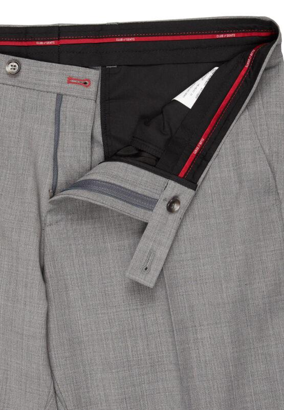 Slim Fit Kostuum Licht Grijs broek detail