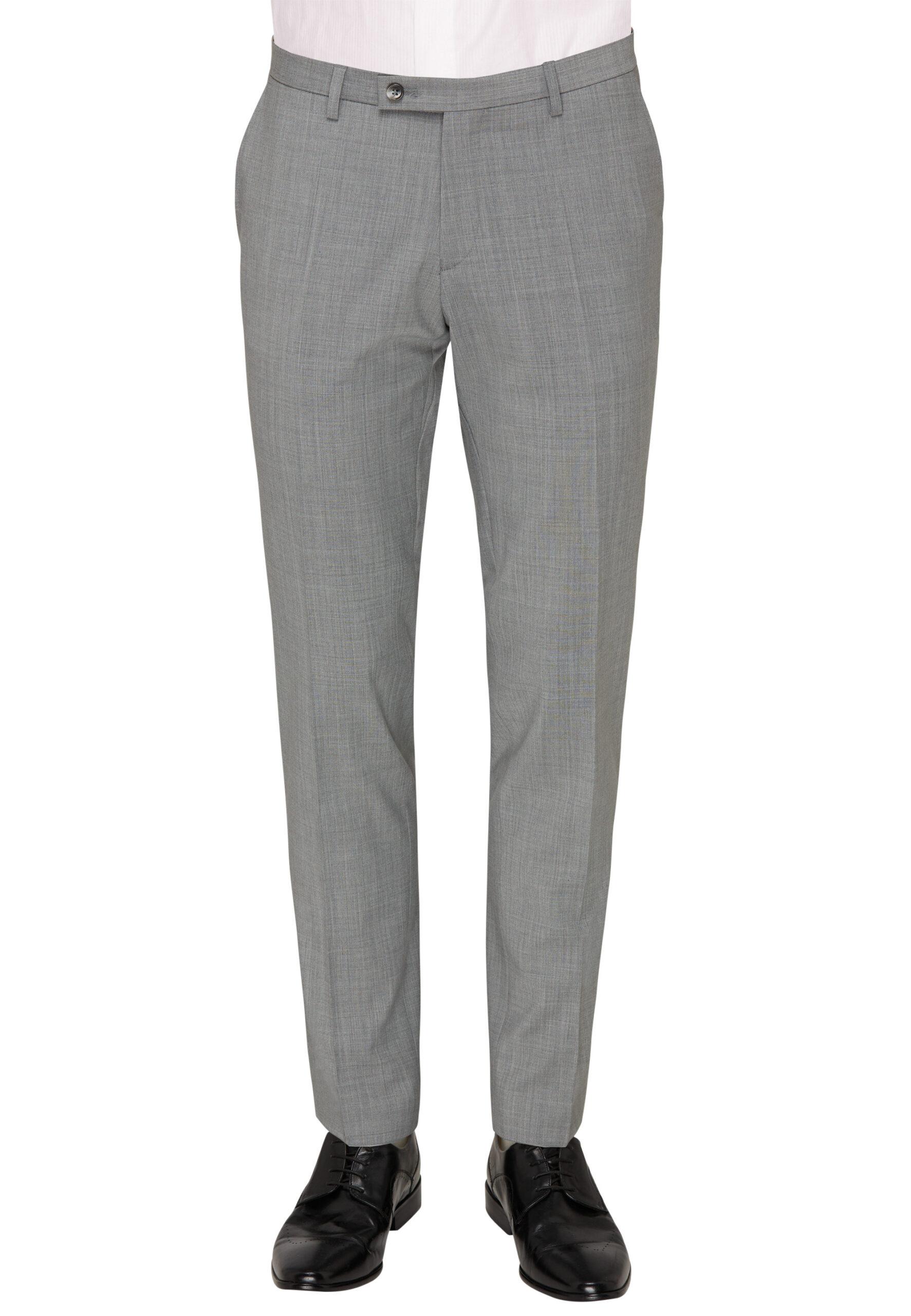 Slim Fit Kostuum Licht Grijs broek voor