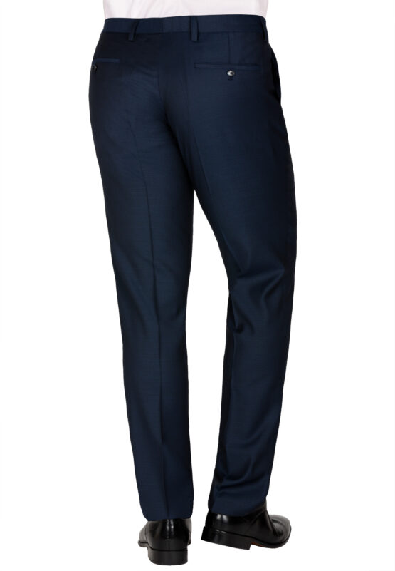 Slim Fit Kostuum Navy Structuur Marzotto broek achter