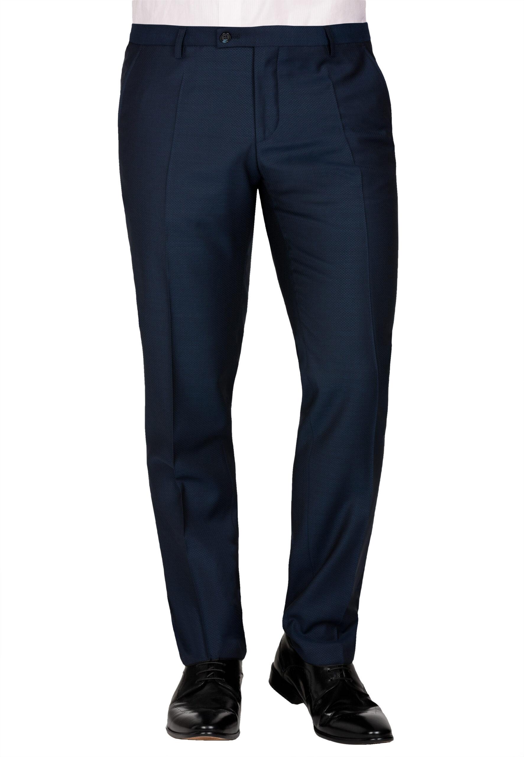 Slim Fit Kostuum Navy Structuur Marzotto broek voor