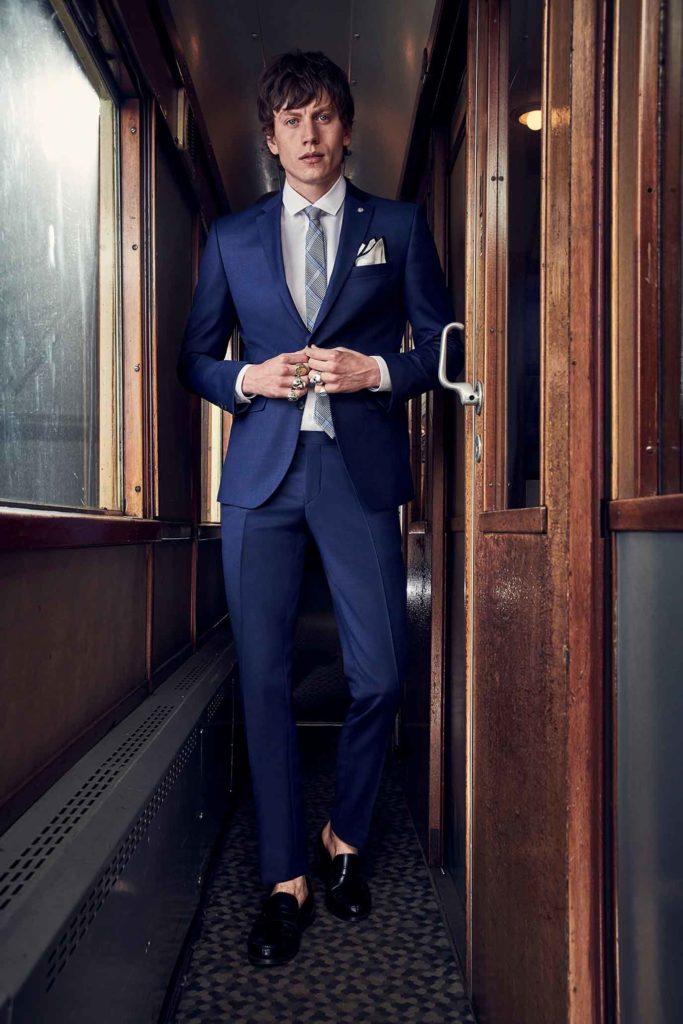 Tailored Fit Kostuum Navy hoofdfoto