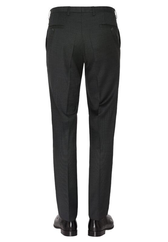 Tailored Fit Kostuum Grijs broek achter