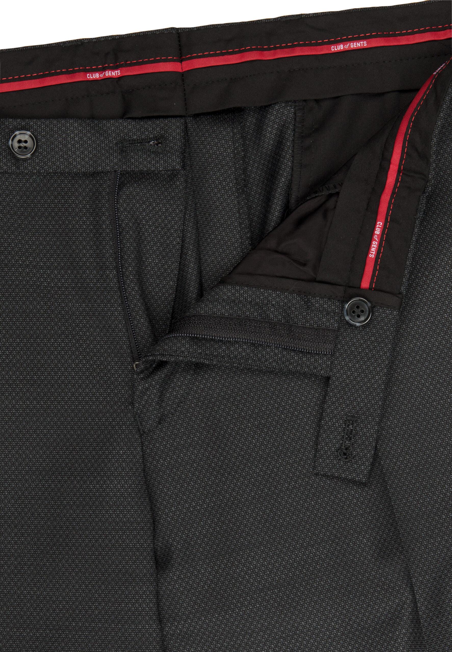 Tailored Fit Kostuum Grijs broek detail