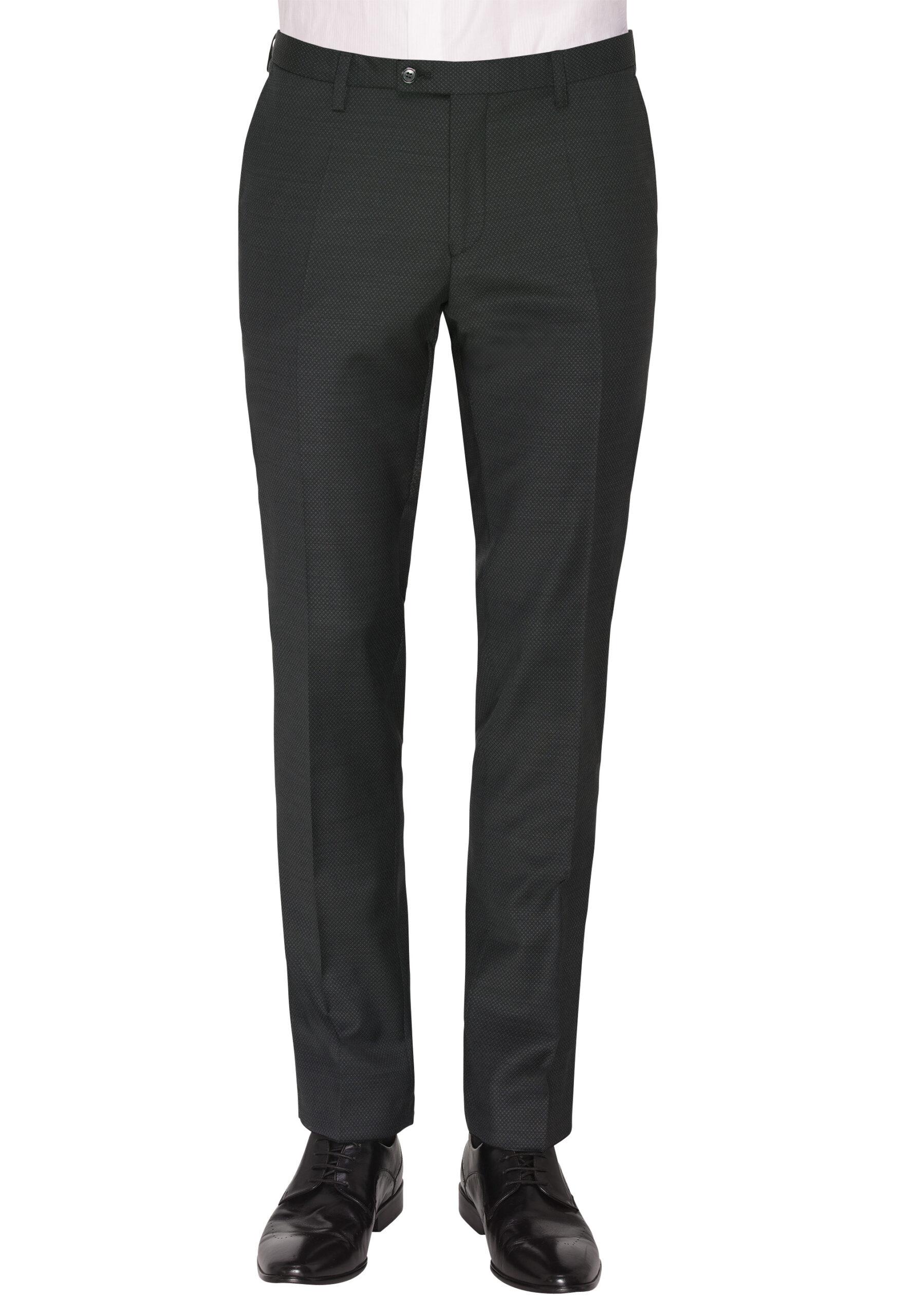 Tailored Fit Kostuum Grijs broek voor