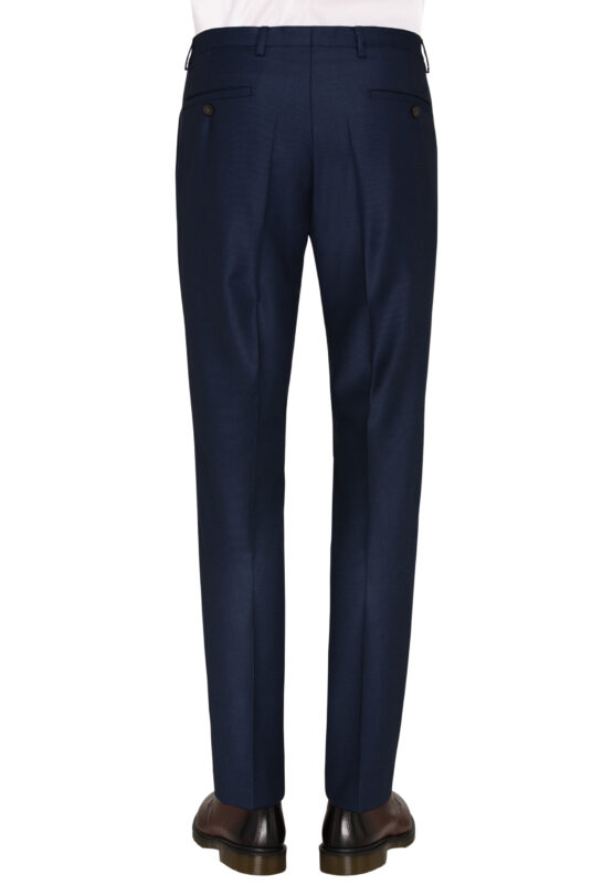 Slim Fit Kostuum Navy Guabello Savile Row broek achter