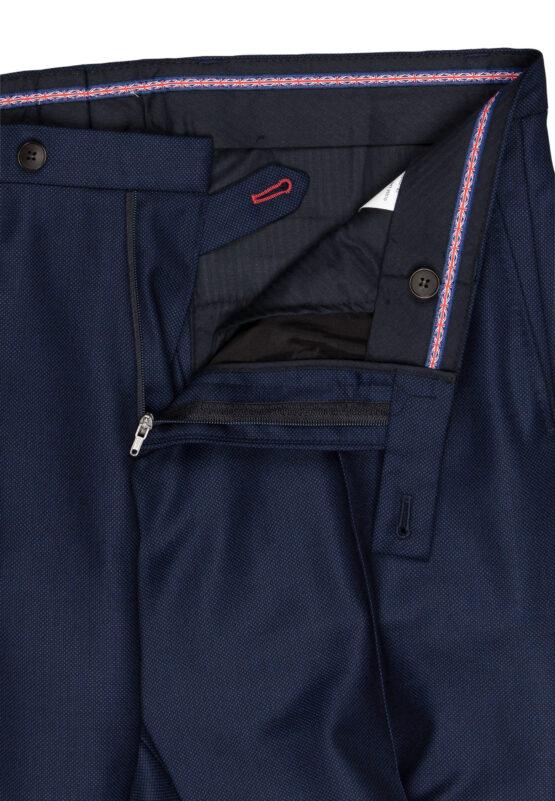 Slim Fit Kostuum Navy Guabello Savile Row broek detail