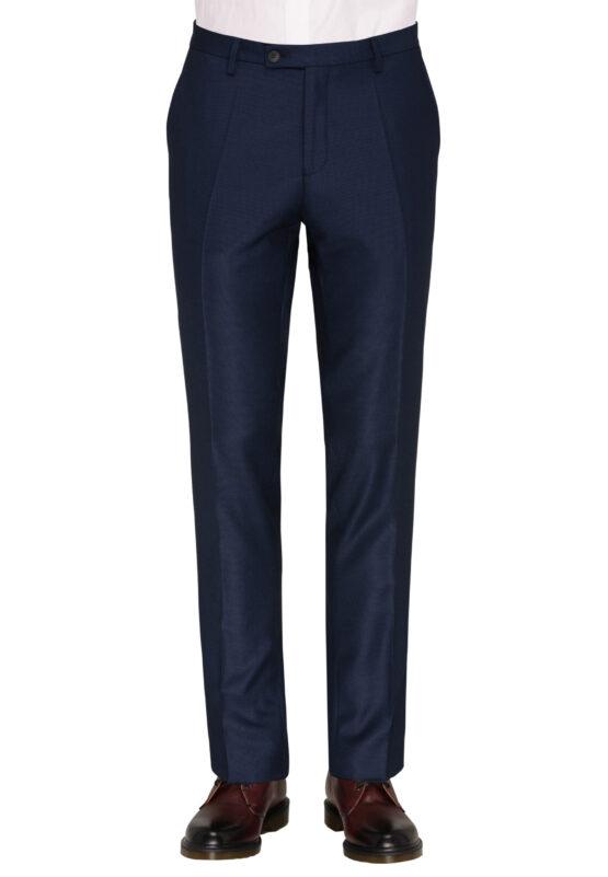 Slim Fit Kostuum Navy Guabello Savile Row broek voor